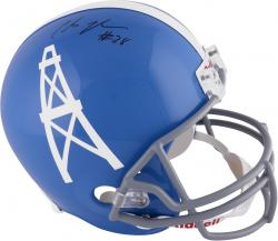 Chris Johnson Houston Oilers Fanatics Authentic Autographed Riddell Replica Helmet
