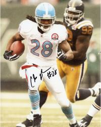 JOHNSON, CHRIS AUTO (TITANS/VS STEELERS/T/B JERSEY) 8x10 - Mounted Memories