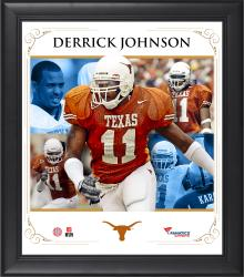 "Derrick Johnson Texas Longhorns Framed 15"" x 17"" Core Composite Photograph"