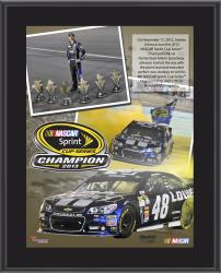Jimmie Johnson 2013 Sprint Cup Series Champion 10.5'' x 13'' Sublimated Plaque - Mounted Memories