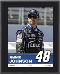 "Jimmie Johnson Sublimated 10.5"" x 13"" Plaque - Mounted Memories"