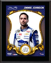 "Jimmie Johnson Sublimated 10.5"" x 13"" Stylized Plaque"