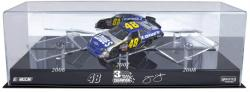 Jimmie Johnson Three Time Champ Three-1:24 Scale Car Case - Mounted Memories
