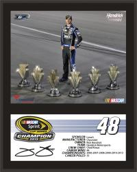 "Jimmie Johnson 6-Time Sprint Cup Series Champion 12"" x 15"" Sublimated Stat Plaque"