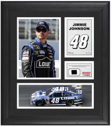 Jimmie Johnson Framed 15'' x 17'' Collage with Race-Used Tire - Mounted Memories