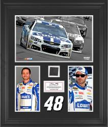 Jimmie Johnson Framed 3-Photograph Collage with Race-Used Tire-Limited Edition of 500 - Mounted Memories