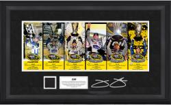 Jimmie Johnson 6-Time Sprint Cup Series Champion Deluxe Framed Mini Panoramic with Race-Used Tire - Limited Edition of 148