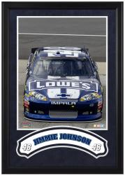 Jimmie Johnson Framed Iconic 16'' x 20'' Photo with Banner - Mounted Memories