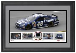 Jimmie Johnson Framed Panoramic with Race-Used Tire-Limited Edition of 500 - - Mounted Memories