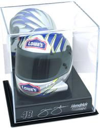 Jimmie Johnson Mini Helmet Display Case with Logo - Mounted Memories