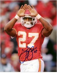 """Larry Johnson Kansas City Chiefs Autographed 8"""" x 10"""" Rock Sign Photograph"""