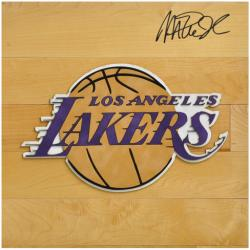 Magic Johnson Los Angeles Lakers Autographed 12'' x 12'' Floor Piece - Mounted Memories