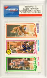 Magic Johnson Los Angeles Lakers Autographed 1980 Topps #237 Boone Card - Mounted Memories