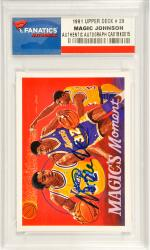 Magic Johnson Los Angeles Lakers Autographed 1991 Upper Deck #29 Card - Mounted Memories