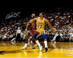 Magic Johnson Autographed Lakers 16x20 Photo