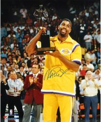 Magic Johnson Los Angeles Lakers Autographed 16'' x 20'' Trophy Photograph - Mounted Memories