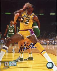 JOHNSON, MAGIC AUTO (LAKERS/VS CELTICS) 8X10 PHOTO - Mounted Memories