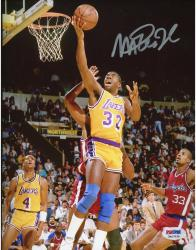 JOHNSON, MAGIC AUTO (LAKERS/VS CLIPPERS) 8X10 PHOTO - Mounted Memories