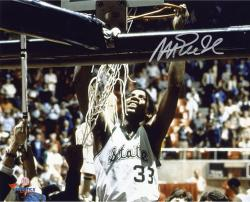 Magic Johnson Michigan State Spartans Autographed 8'' x 10'' Cutting Net Photograph - Mounted Memories
