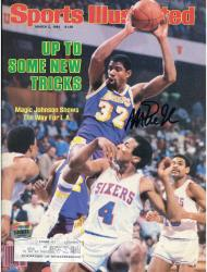 Magic Johnson Los Angeles Lakers Autographed Sports Illustrated New Tricks Magazine - Mounted Memories