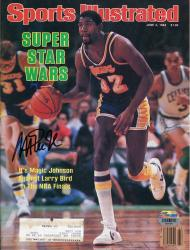 Magic Johnson Los Angeles Lakers Autographed Sports Illustrated Super Star Wars Magazine - Mounted Memories