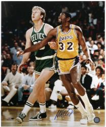 Los Angeles Lakers Magic Johnson Autographed 16'' x 20'' Photo - Mounted Memories