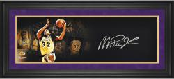 Magic Johnson Los Angeles Lakers Framed Autographed 10'' x 30'' Film Strip Photograph-Limited Edition of 25 - Mounted Memories