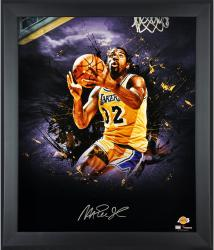 Magic Johnson Los Angeles Lakers Framed Autographed 20'' x 24'' In Focus Photograph-Limited Edition of 25 - Mounted Memories