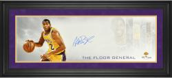 "Magic Johnson Los Angeles Lakers Framed Autographed 10"" x 30"" Floor General Photograph-Limited Edition of 25"