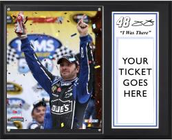 "Jimmie Johnson 2012 Tums Fast Relief 500 Sublimated 12x15 ""I WAS THERE"" Photo Plaque - Mounted Memories"