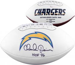 Charlie Joiner San Diego Chargers Fanatics Authentic Autographed Logo Football with HOF Inscription