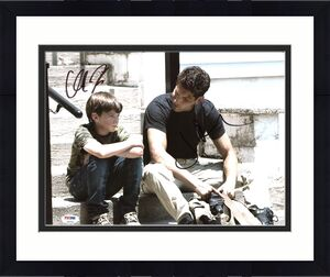 Jon Bernthal & Chandler Riggs The Walking Dead Signed 11X14 Photo PSA #Z90254