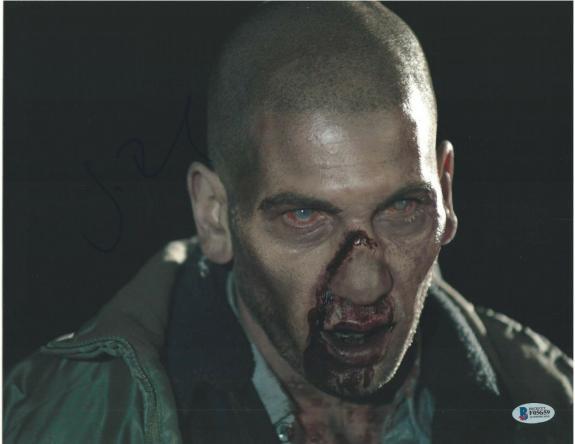 Jon Bernthal Signed 11x14 Photo Walking Dead Beckett Bas Autograph Auto B