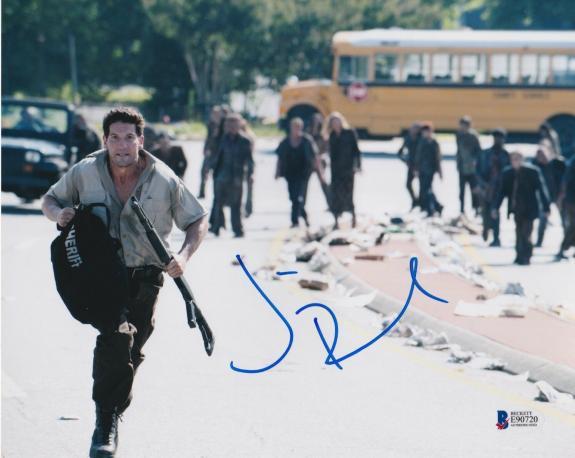 Jon Bernthal Signed 8x10 Photo Fury Walking Dead Beckett Bas Autograph Auto P