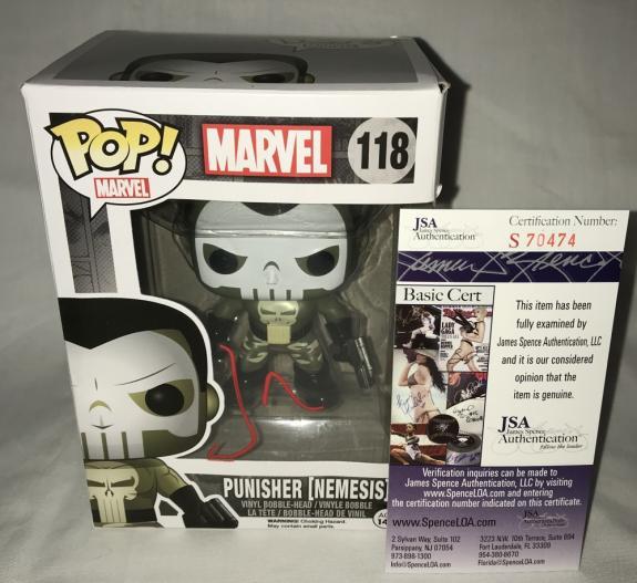 Jon Bernthal Signed   Autographed Punisher Nemesis Daredevil Funko Pop Toy Doll Figurine - JSA Certified