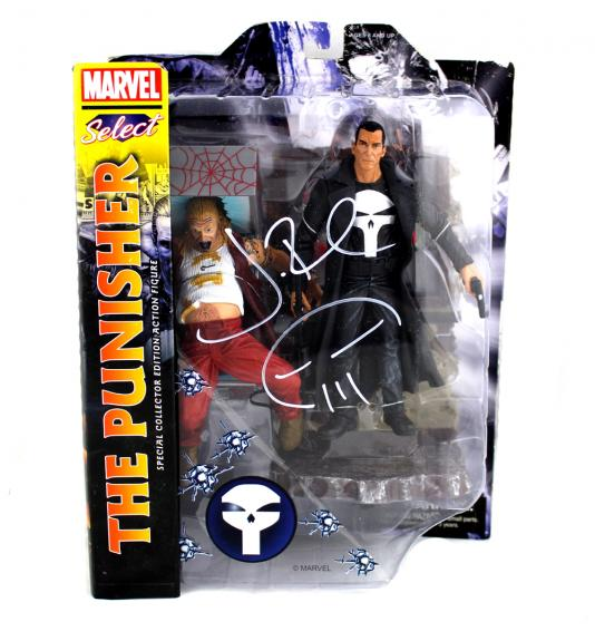 Jon Bernthal Signed Punisher Marvel Select Toy With The Punisher Logo Inscription