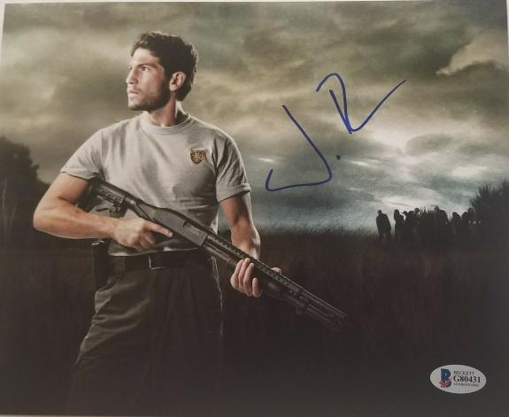 JON BERNTHAL Signed SHANE from THE WALKING DEAD 8X10  PHOTO BAS COA AUTOGRAPH