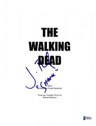 Jon Bernthal Signed Walking Dead Pilot Episode Script Beckett Bas Autograph Auto
