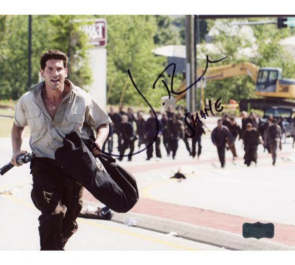 "Jon Bernthal Signed Walking Dead Running Unframed 8×10 Photo with ""Shane"" Inscription"