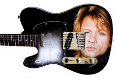 Jon Bon Jovi Airbrushed Autographed Signed Guitar UACC RD PSA