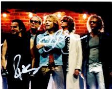 Jon Bon Jovi and Richie Sambora Signed - Autographed Bon Jovi Group 8x10 inch Photo - DISCOUNTED - Guaranteed to pass PSA or JSA