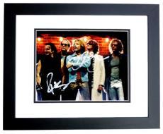 Jon Bon Jovi and Richie Sambora Signed - Autographed Bon Jovi Group 8x10 inch Photo BLACK CUSTOM FRAME - DISCOUNTED - Guaranteed to pass PSA or JSA
