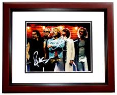 Jon Bon Jovi and Richie Sambora Signed - Autographed Bon Jovi Group 8x10 inch Photo MAHOGANY CUSTOM FRAME - Guaranteed to pass PSA or JSA