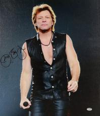 "Jon Bon Jovi Autographed 20""x 24"" Vertcal Stretched Canvas - BAS COA"
