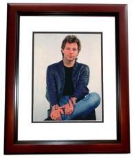 Jon Bon Jovi Autographed 8x10 Photo MAHOGANY CUSTOM FRAME