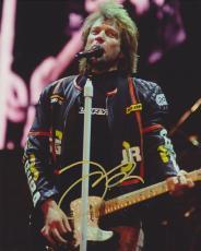 Jon Bon Jovi Autographed Concert 8x10 Photo