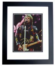 Jon Bon Jovi Autographed Concert 8x10 Photo BLACK CUSTOM FRAME