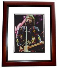 Jon Bon Jovi Autographed Concert 8x10 Photo MAHOGANY CUSTOM FRAME