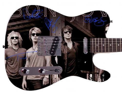 Jon Bon Jovi Facsimile Signature  Custom Graphics Guitar