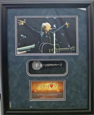 JON BON JOVI framed display with signed microphone-Full JSA Letter